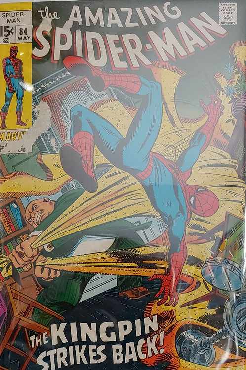 Amazing Spider-man #84 damage on cover
