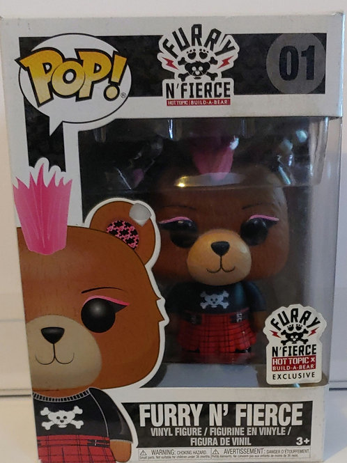 Build a Bear Furry 'n Fierce Hot Topic exclusive pop