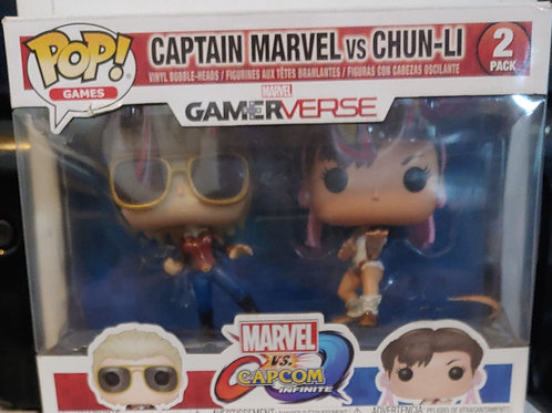 Capt. Marvel vs. Chun-Li Pop