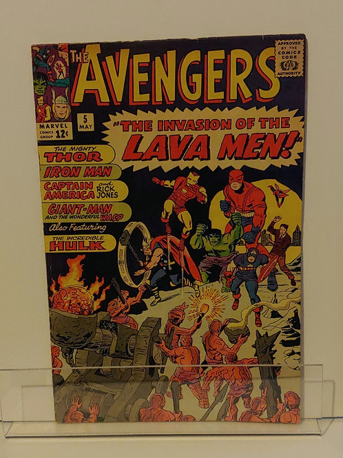 Avengers #5--2nd Silver Age appearance of Captain America