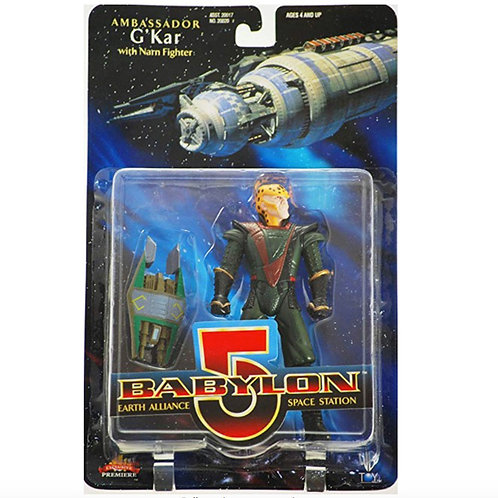 Babylon 5 Amassador G'Kar with Narn Fighter
