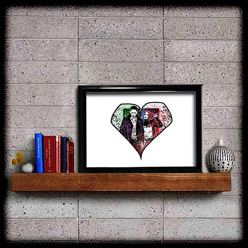 Joker and Quinn Heart - Digital Download