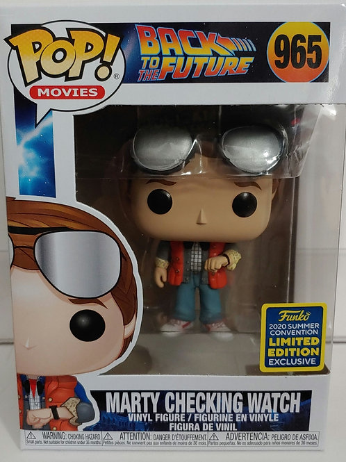 SDCC 2020 shared exclusive BTTF Marty Checking Watch