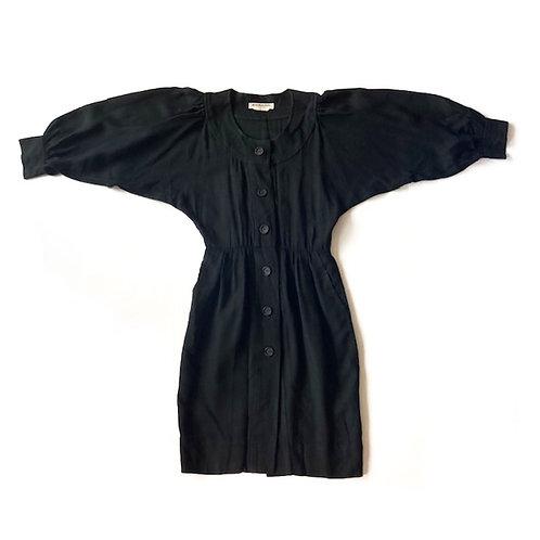 Robe Saint Laurent Rive Gauche à manches bouffantes