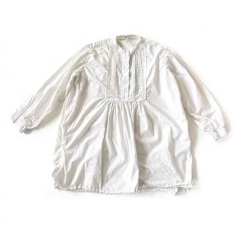 Tunique en coton à plastron ouvragé