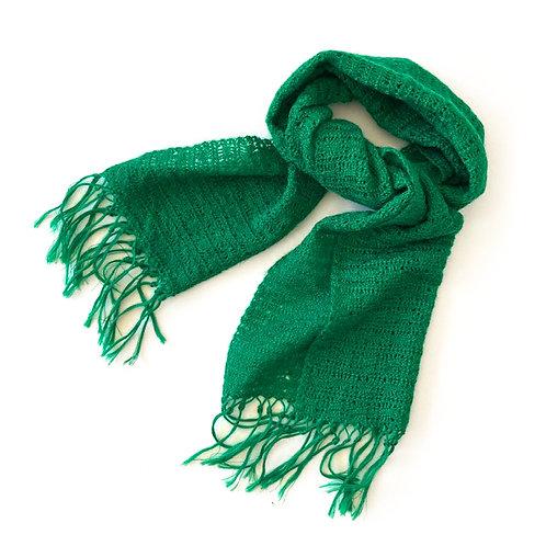 Écharpe en laine confectionnée main