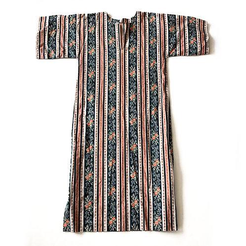 Robe des années 1970 confectionnée main en coton