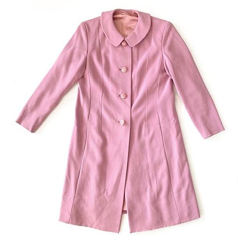 Manteau des années 1960 confectionné main