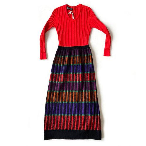 Robe longue en laine Lanvin Sportswear