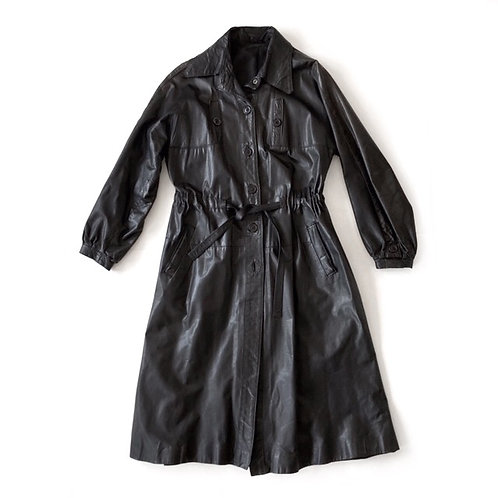 Trench-coat en cuir