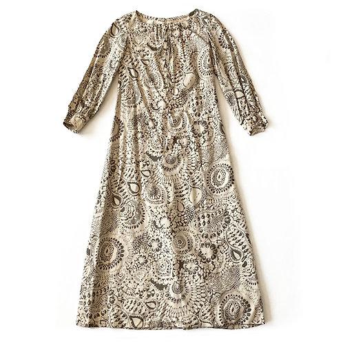 Robe couture des années 1960 en soie