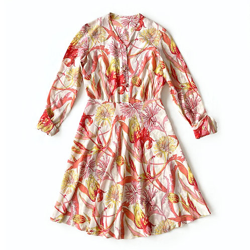 Robe de couturière en soie