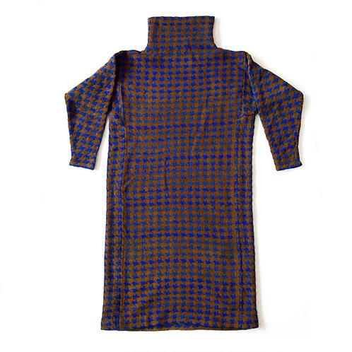 DEADSTOCK - Robe en chenille et maille de laine