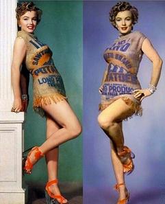 Marilyn Monroe (robe sac à patates)