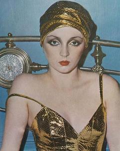 Linda Dagne en Givenchy par David Bailey, Vogue UK, novembre 1973