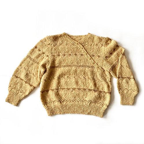 Gilet tricoté en laine et lurex