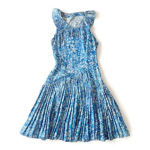 Robe bulles des années 1960 en twill de soie