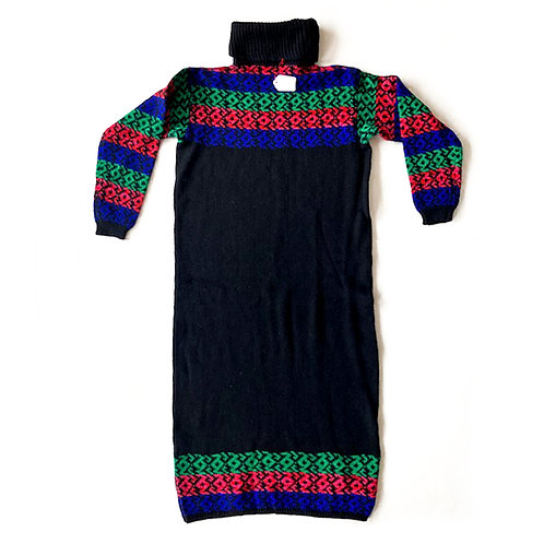 DEADSTOCK - Robe en maille pure laine