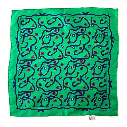 Petit foulard en soie Saint Laurent Rive Gauche
