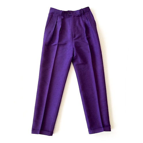 Pantalon Yves Saint Laurent Rive Gauche en soie