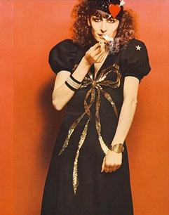Anjelica Huston en Saint Laurent Rive Gauche par Bob Richardson, vogue Italie, 1971