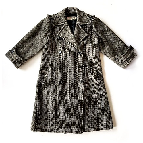 Manteau à chevrons Saint Laurent Rive Gauche