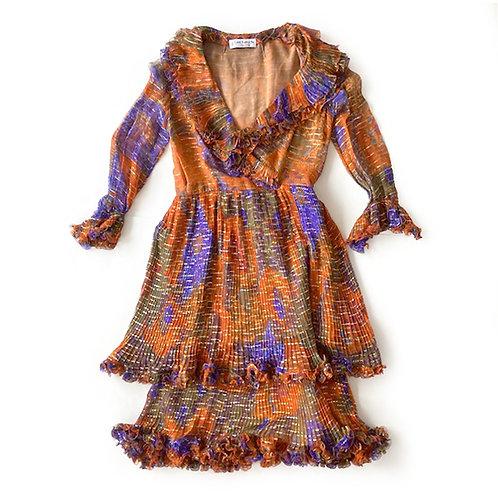 Robe Guy Laroche en soie et lurex