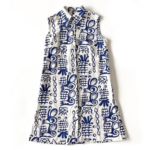 Mini-robe en coton des années 1960