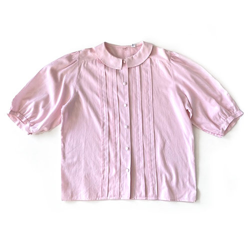 Blouse plissée en coton