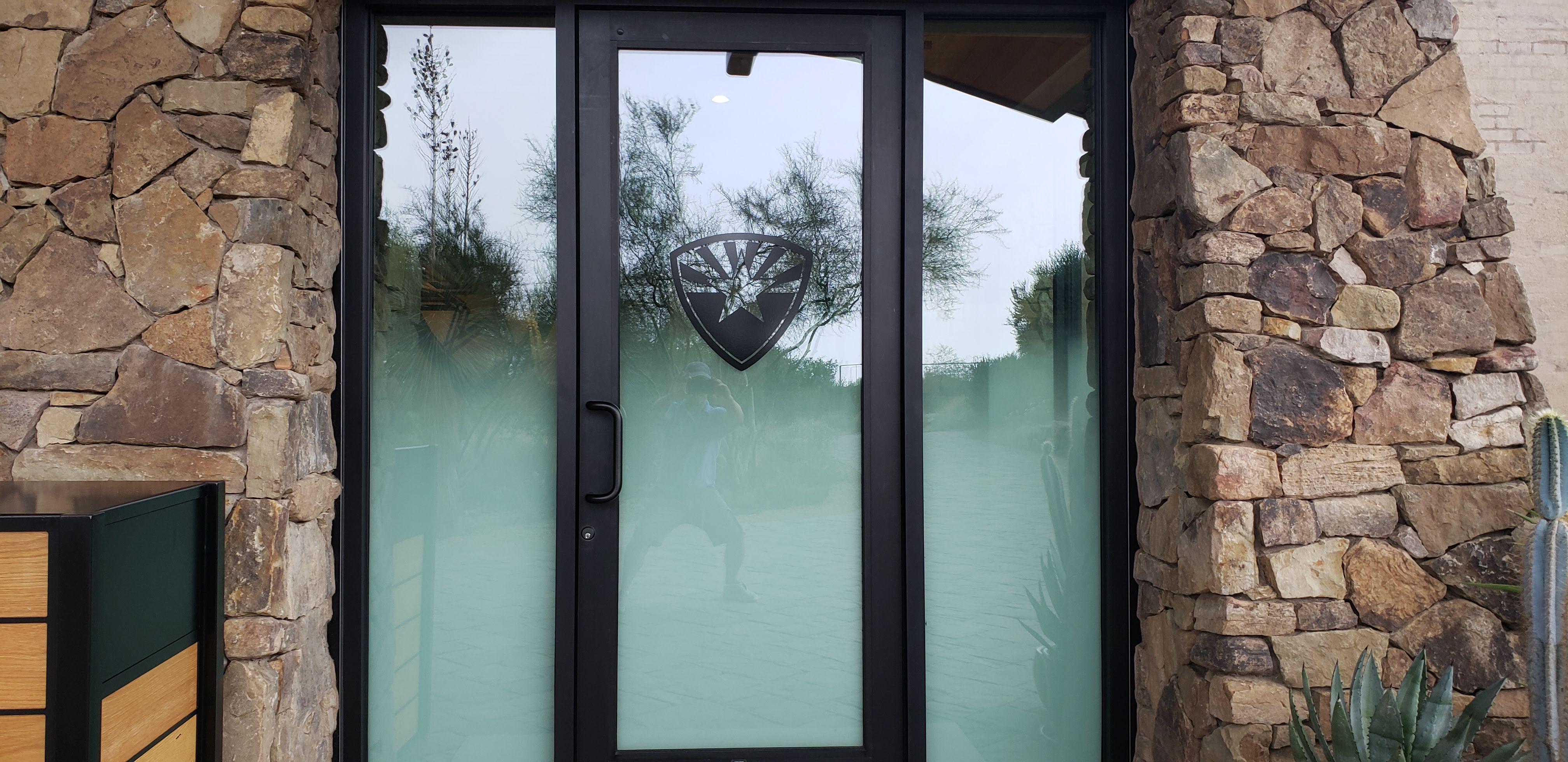 Subtle yet professional looking company logo applied with decorative film. Arizona