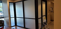 White out glass treatment window film decorative film Phoenix, Arizona