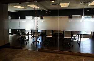 Decorative Film installed in conference room of office in Phoenix, Arizona