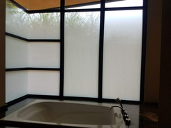 Privacy glass treatment provided for residential window film customer in Scottsdale, AZ. This decora