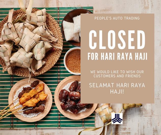 Wishing all our beloved Customers and Friends a Selamat Hari Raya Haji!