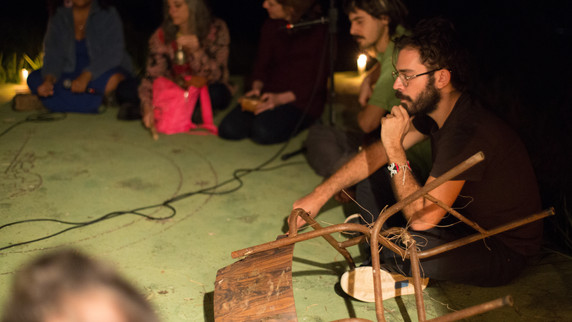 Outdoor improvisation proposed by Matheus Vinhal