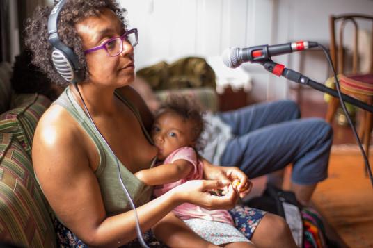 Nia and Heron recording