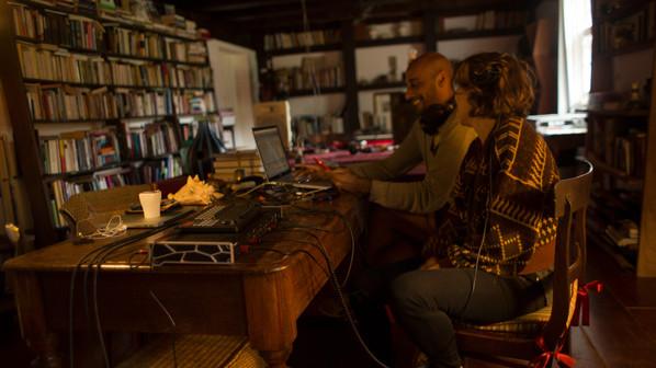 the sound artists/designers Laura Zimmerman and Alexandre Gwaz
