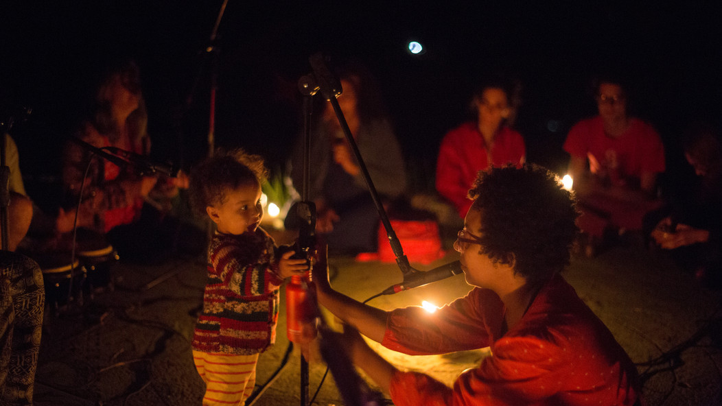 Nia & Heron at Matheus Vinhal's outdoor improvisation proposition