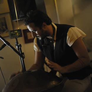 Pedro Diaz durante apresentação no espaço Saracura / RJ