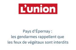 Pays d'Épernay : les gendarmes rappellent que les feux de végétaux sont interdits