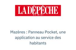 Mazères : Panneau Pocket, une applicatio
