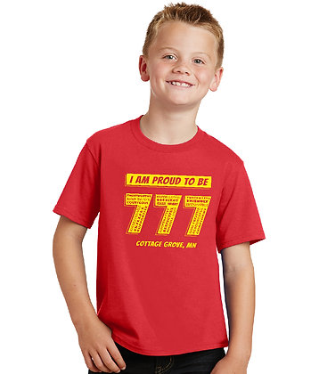Proud 777 - Youth T-shirt - Bright Red