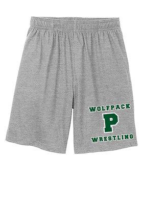 Wolfpack Wrestling Shorts - Gray