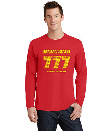 Proud 777 - Adult Long Sleeve T-shirt - Bright Red