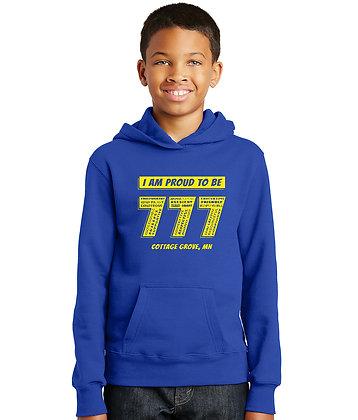 Proud 777 - Youth Hoodie - True Royal