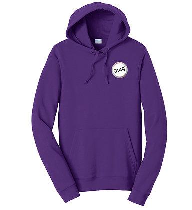 iHug Logo - Hooded Sweatshirt - Team Purple