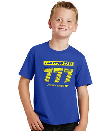 Proud 777 - Youth T-shirt - True Royal