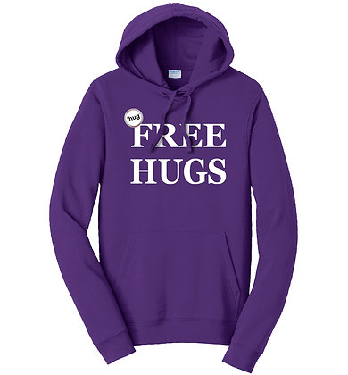 iHug Free Hugs - Hooded Sweatshirt - Team Purple