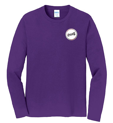 iHug Logo - Long Sleeve Tshirt - Team Purple