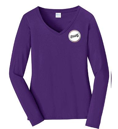 iHug Logo - Women's Long Sleeve Tshirt - Team Purple